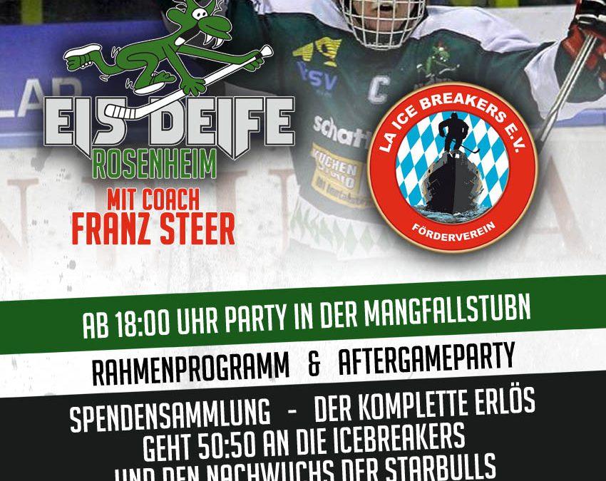 """Benefizspiel der """"Eisdeife"""" in Rosenheim"""