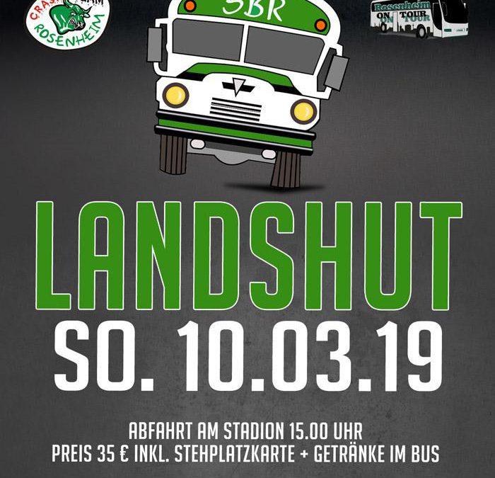 Fanbus nach Landshut