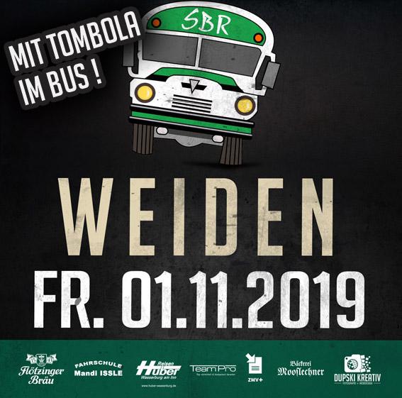 Am 01.11.2019: Update! Fanbus nach Weiden – alle Informationen