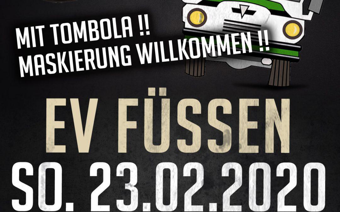 am 23.02.2020: Faschingsbus nach Füssen