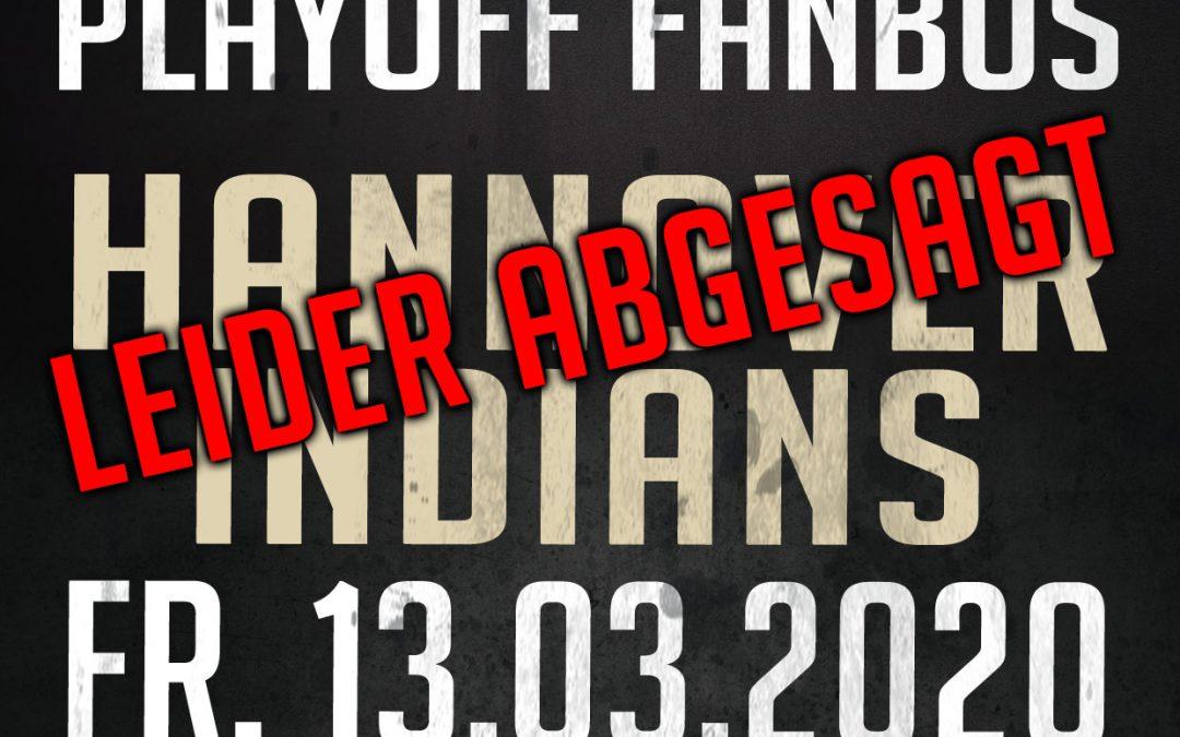 Fanbus zu den Hannover Indians am 13.01. abgesagt!